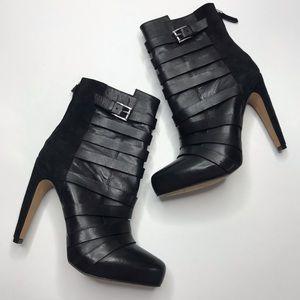 Sam Edelman Kendrix Black Leather Ankle Boots 8M
